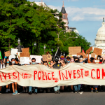 Washington, DC, USA - June 12, 2020: Protesters march down Pennsylvania Avenue in support of funding for communities Photo credit: Allison C. Bailey
